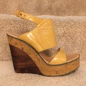 Costume National Cammello Wedge, size 38.5